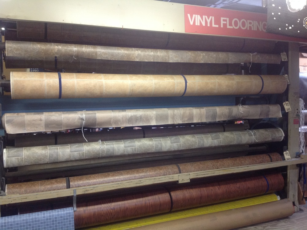In Stock Linoleum - starting at only 45 cents/s.f.