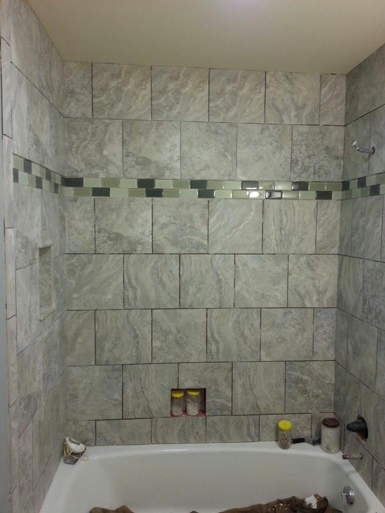 Stone Grey Tile Installation by Barry Gibbs