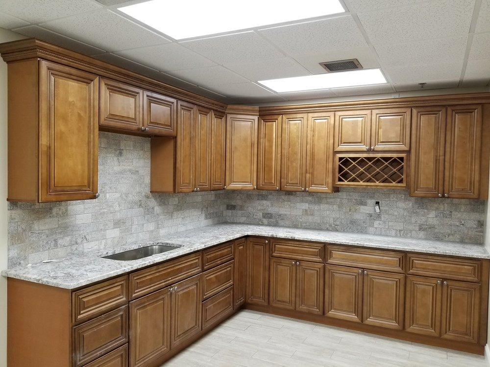 Coffee Glaze Cabinets