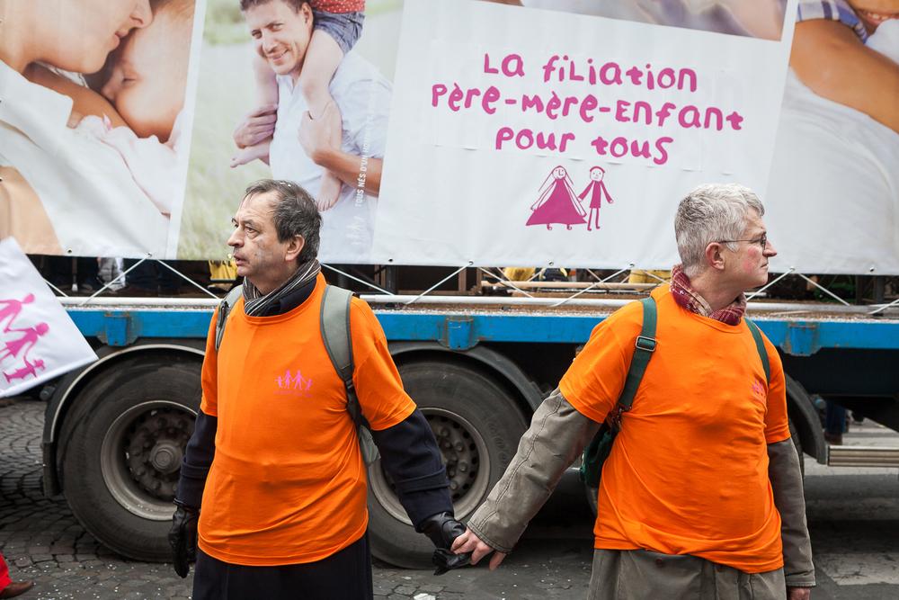 Service d'ordre de la manif pour tous, La Manif pour tous, 13 janvier 2013. © Sébastien Borda