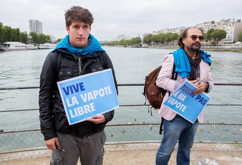 """Jeune manifestant de la  """"World V  aping D  ay""""devant la statue de la liberté. Paris, 19 septembre 2013.  © Sébastien Borda"""