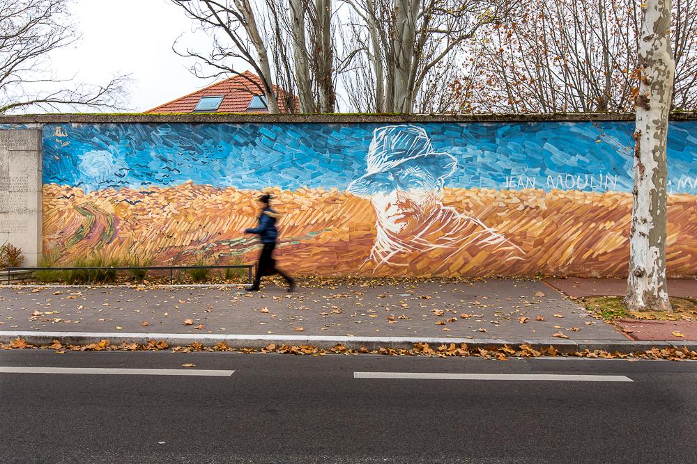 Mur peint Jean Moulin Mémorial de la prison de Montluc. Lyon. © Sébastien Borda