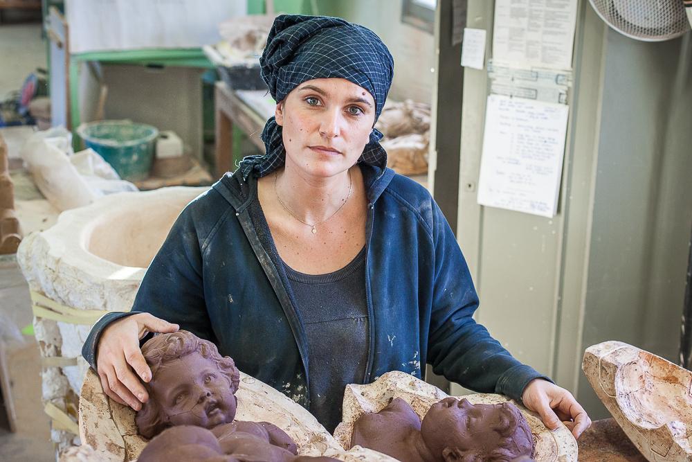 Elodie de l'atelier Prométhée. © Sébastien Borda