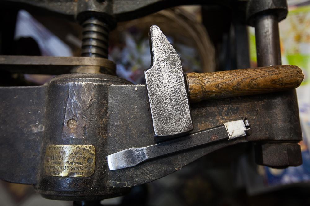 Les outils du relieur. © Sébastien Borda