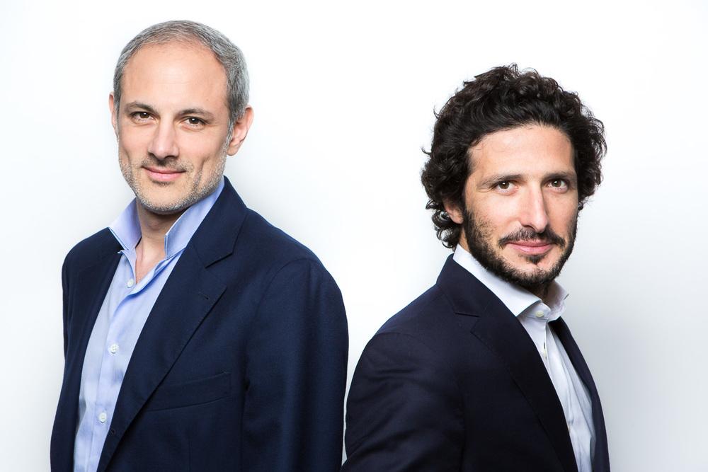 Portrait dePhilippe Corot et Adrien Nussenbaum, dirigeants de la sociétéMirakl. Sébastien Borda