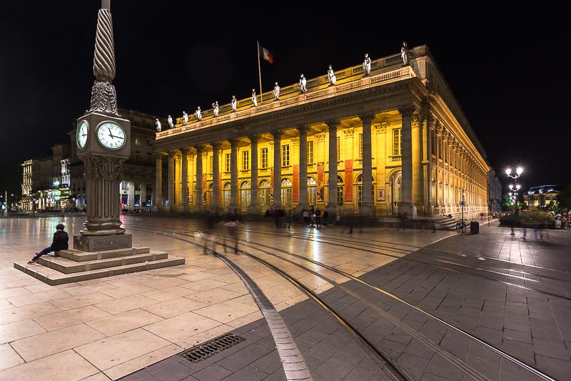 Grand théâtre de Bordeaux de nuit. © Sébastien Borda
