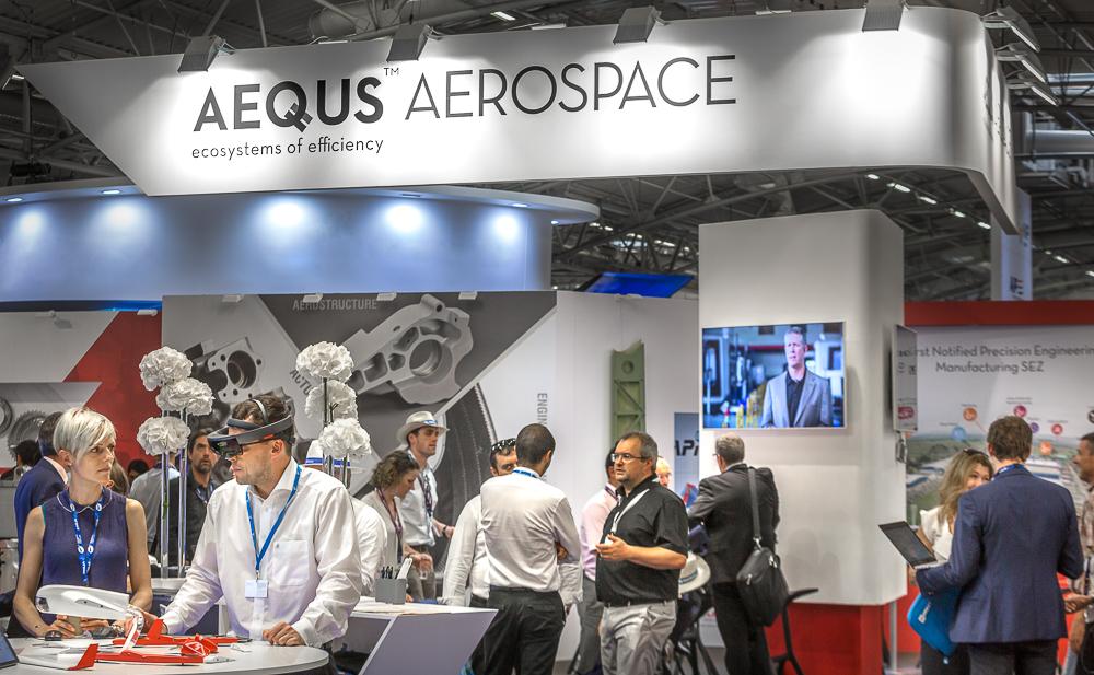 Stand Aequs Aerospace au salon du Bourget 2017