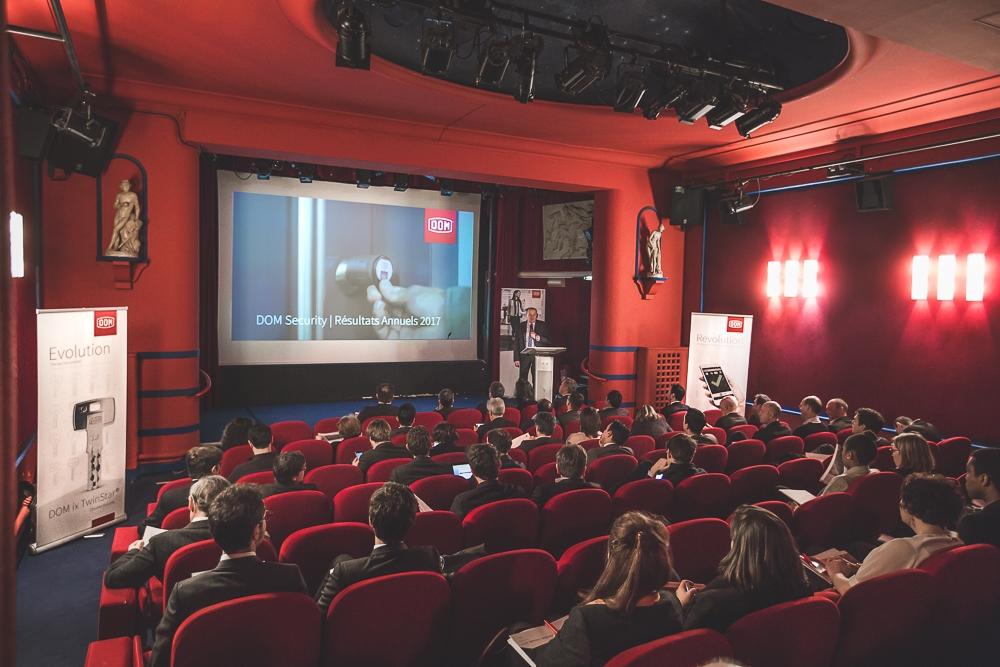 Discours du président pendant la présentation des résultats annuels.© Sébastien Borda | www.sebastienborda.com