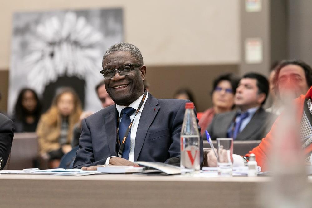 Denis Mukwege, prix Nobel de la Paix pendant le Positive Forum au Ministère des Affaires Etrangères. 2018. ©Sébastien Borda | www.sebastienborda.com
