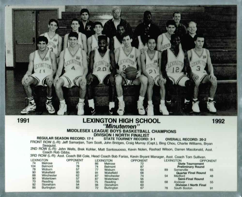 "The 1991-92 LHS Minutemen, ""Where Defense Began."""