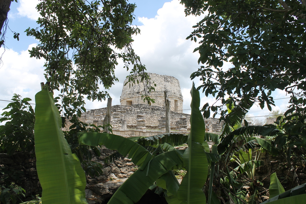The building built to resemble the observatory at Chichen Itzá - Mayapan, Yucatan