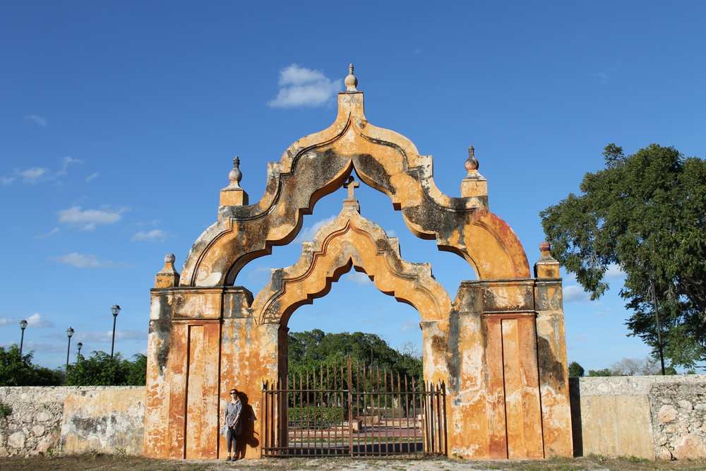 Moorish Arch at Yaxcopoil Hacienda