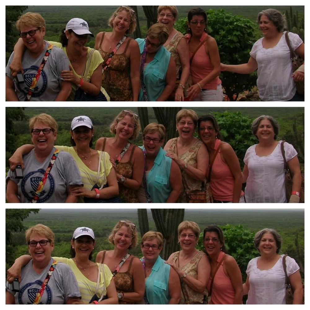 At the Muna mirador lookout. Do they look like a fun bunch or what!