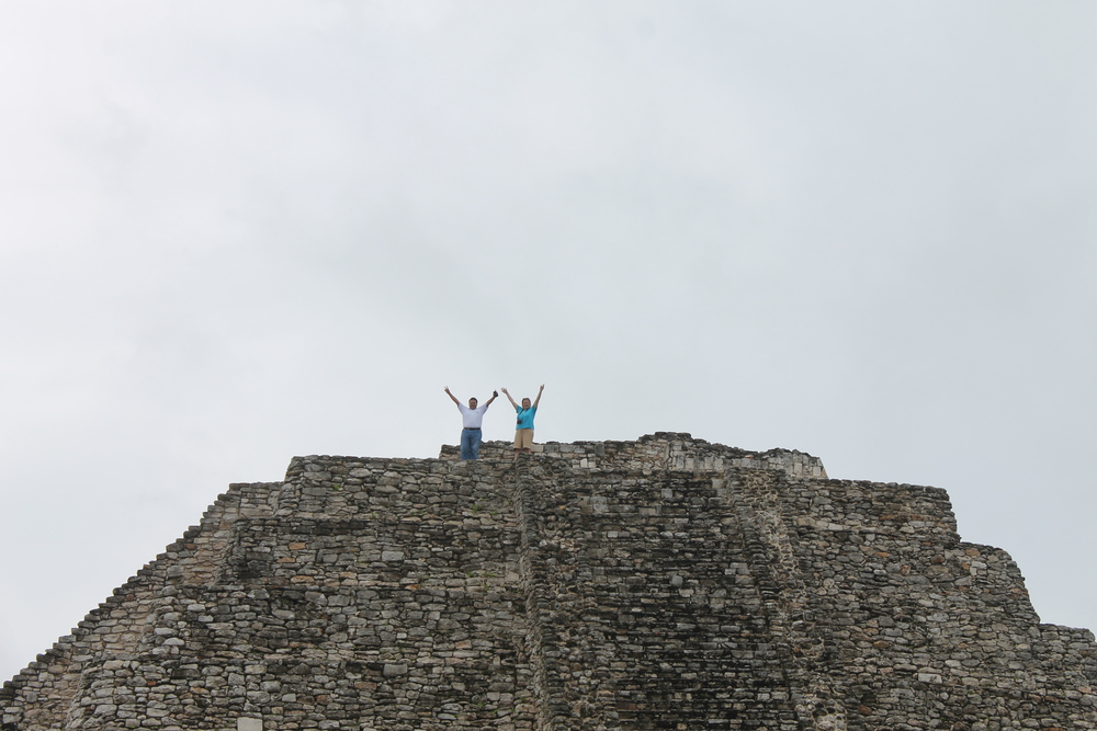 The top of El Castillo pyramid