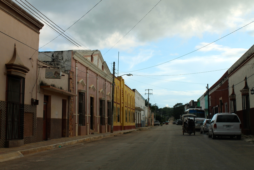 Pretty main street in Maxcanu
