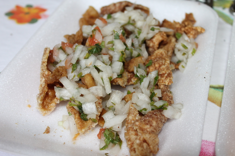 Snack to start - chicharron!