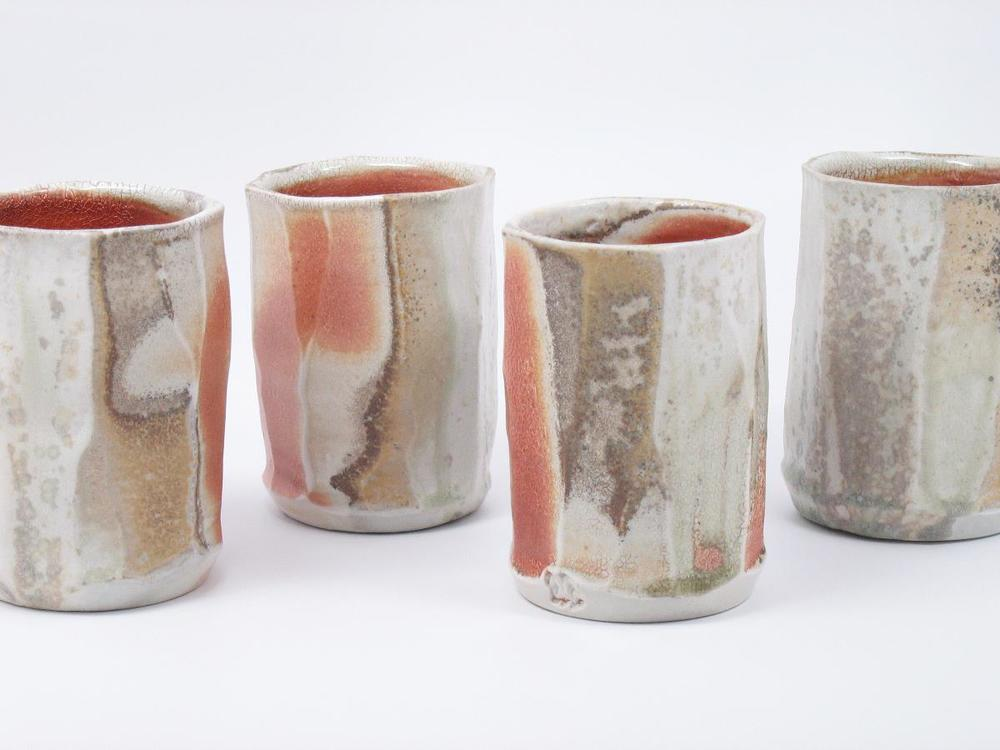 Faceted Cups - 3 3:8%22x3 3:8%22x5%22 (each) - Porcelain.JPG