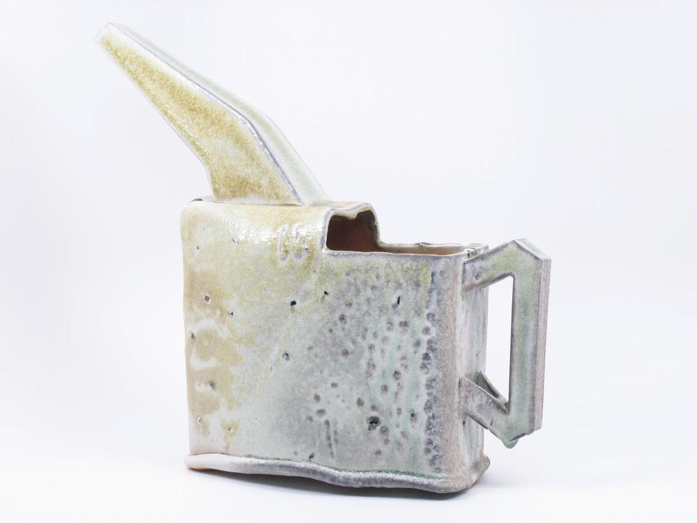Watering Can - 13%22x5%22x12%22 - Woodfired Porcelain with Bloated Shale.JPG