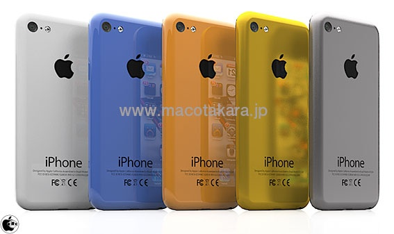 Rendering of low cost iPhone in multiple colors