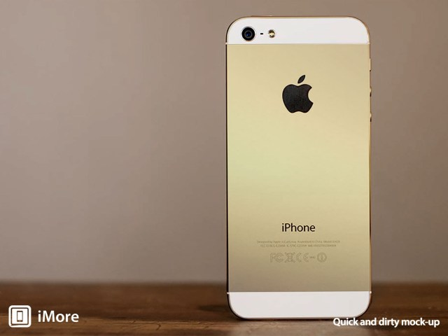 "Mockup of iPhone 5S in ""champagne"" (Source: iMore)"