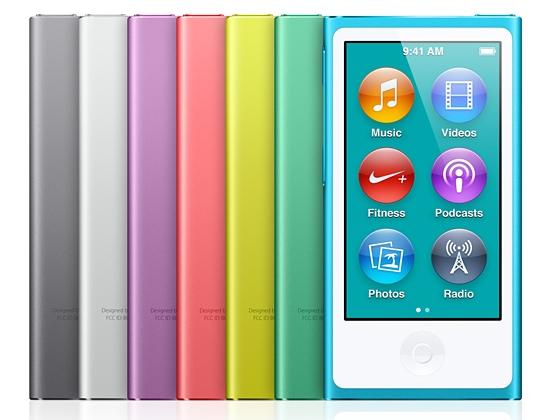 iPod Nano's with Space Grey option