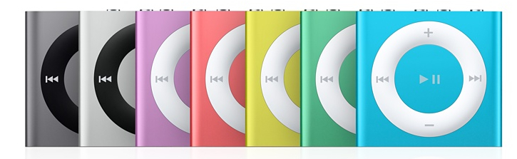 iPod Shuffle with Space Grey option