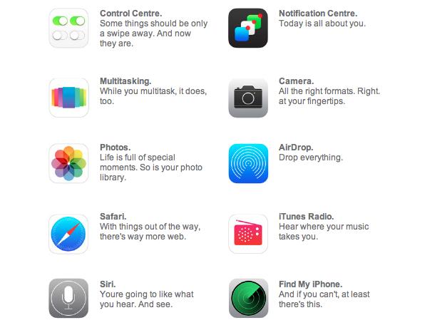 iOS 7, iStore