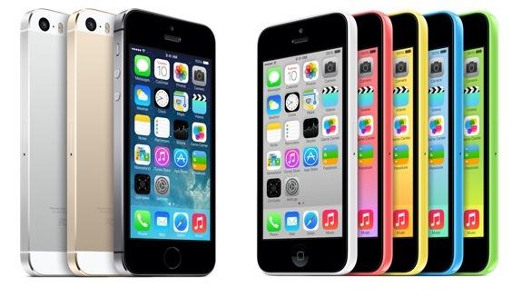 iPhone 5s, iPhone 5c