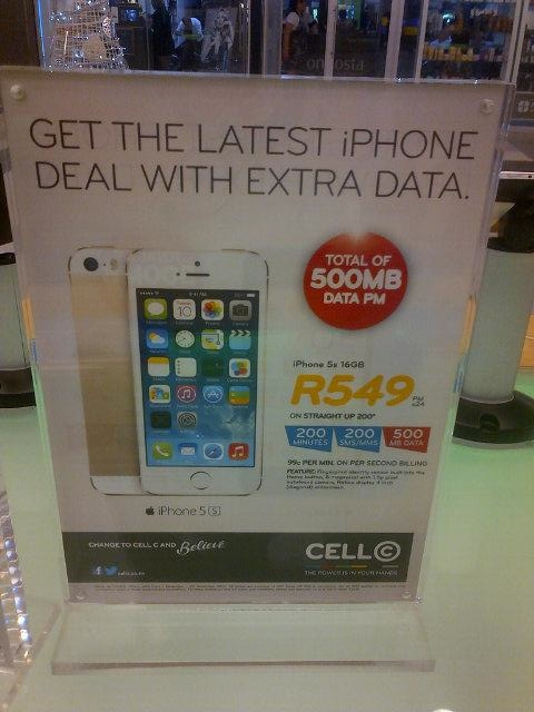 Cell C iPhone 5s