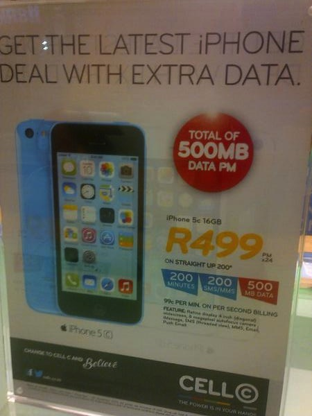 iPhone 5c South Africa