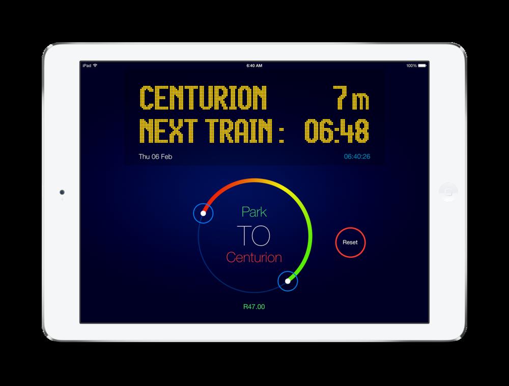 Gautrain tracking app Gautrain App
