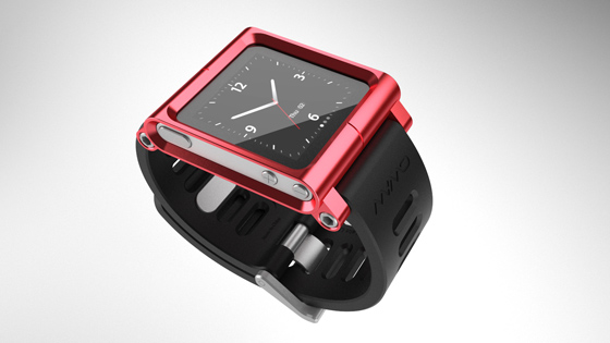 6th Generation iPod Nano with watch strap