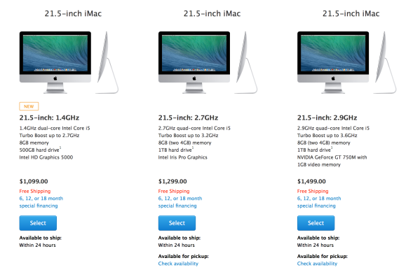 Apple Releases Cheaper 21.5 inch iMac iMac
