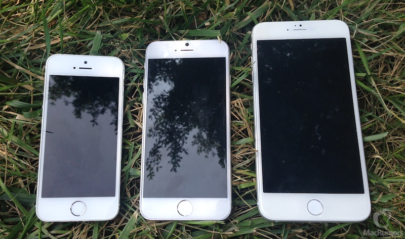 iPhone 5s, iPhone 6 4.7 inch, iPhone 6 5.5 inch