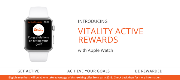Free Apple Watch with Discovery Vitality Smart Watch