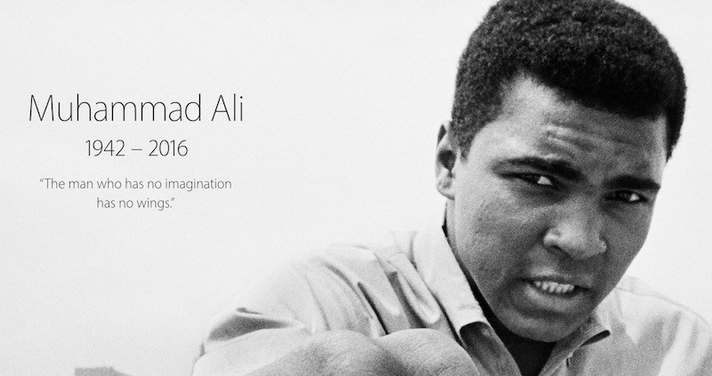 Apple Honours the Life of Muhammad Ali on its Homepage Apple