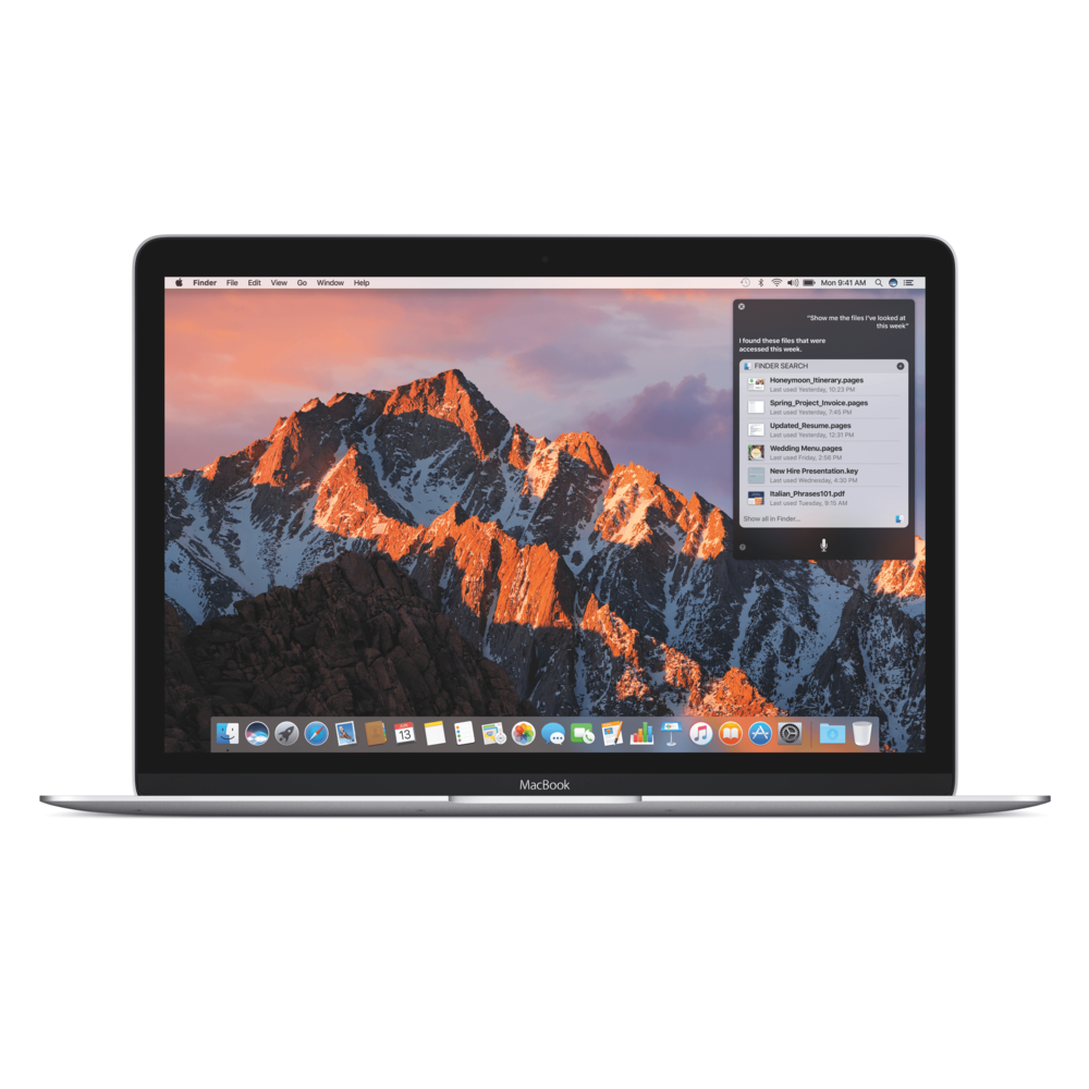 Apple Previews macOS Sierra MacOS