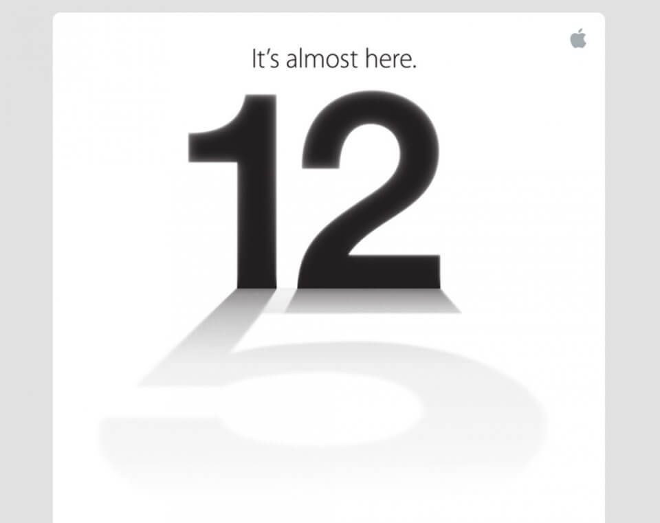 iPhone 5 media event invite
