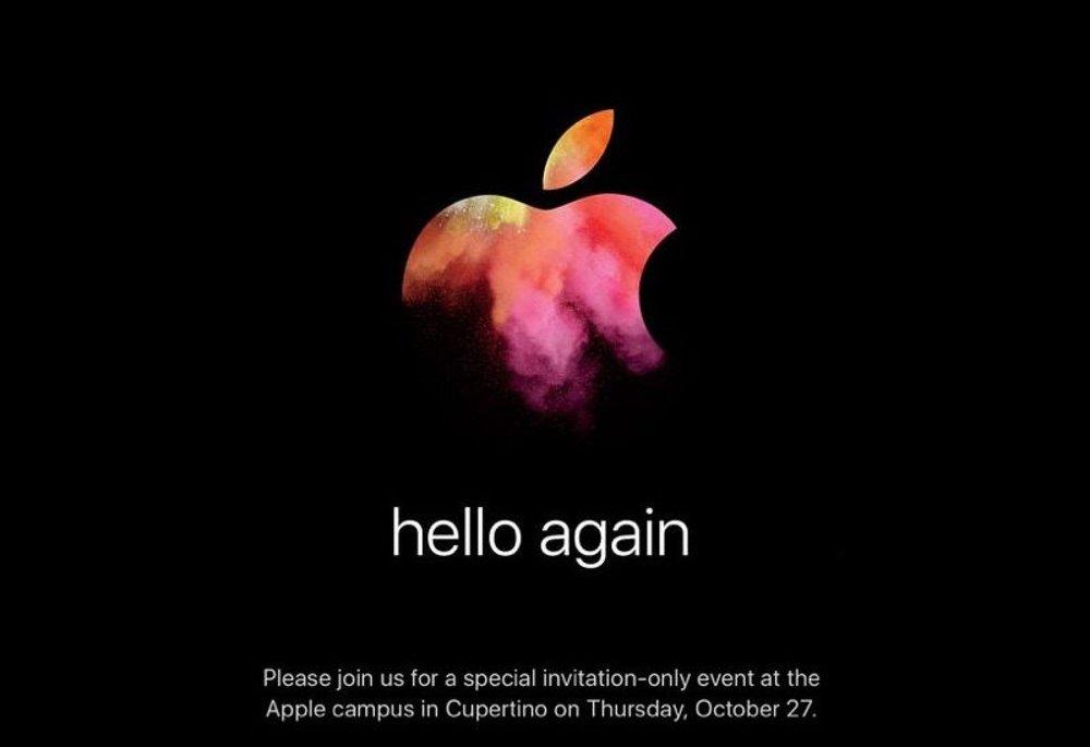Apple Invites Media to 'Hello Again' 27 October Mac-Centric Event Macbook Pro Macbook Air Macbook Mac Pro Mac Mini iMac