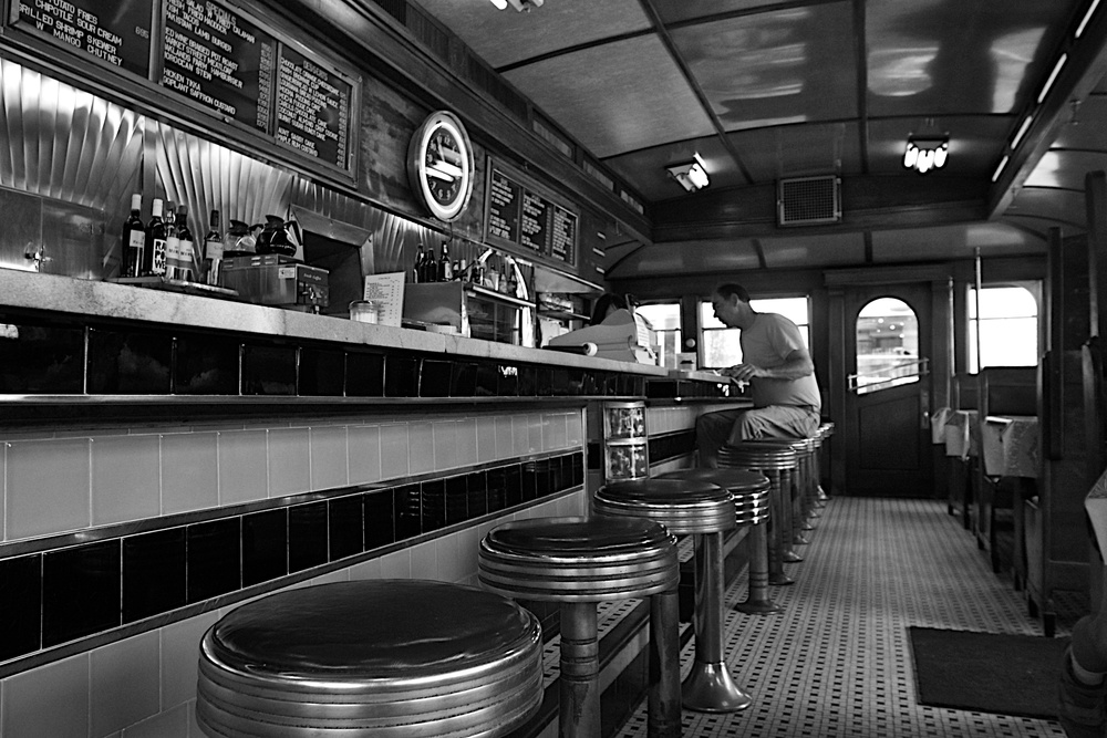 Coffee break at the A-1 Diner in Gardiner, Maine