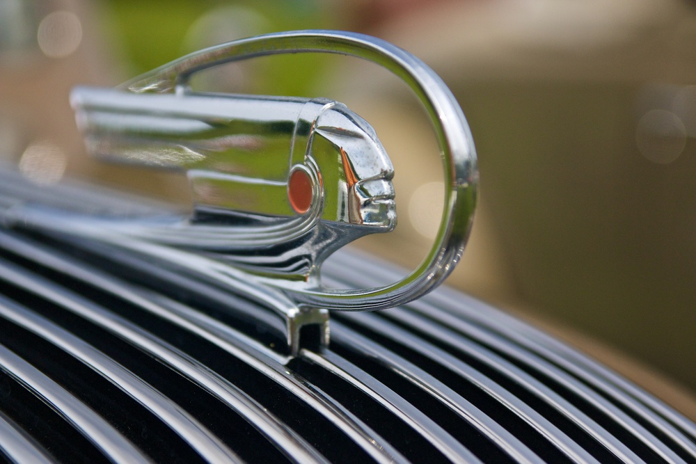 The Maine Association of Obsolete Cars staged their annual exhibition this weekend on the grounds of the Boothbay Railway Village. This picture is the hood ornament of a 1927 Pontiac, whose owner bought it on eBay and restored it with a healthy helpings of time and money.