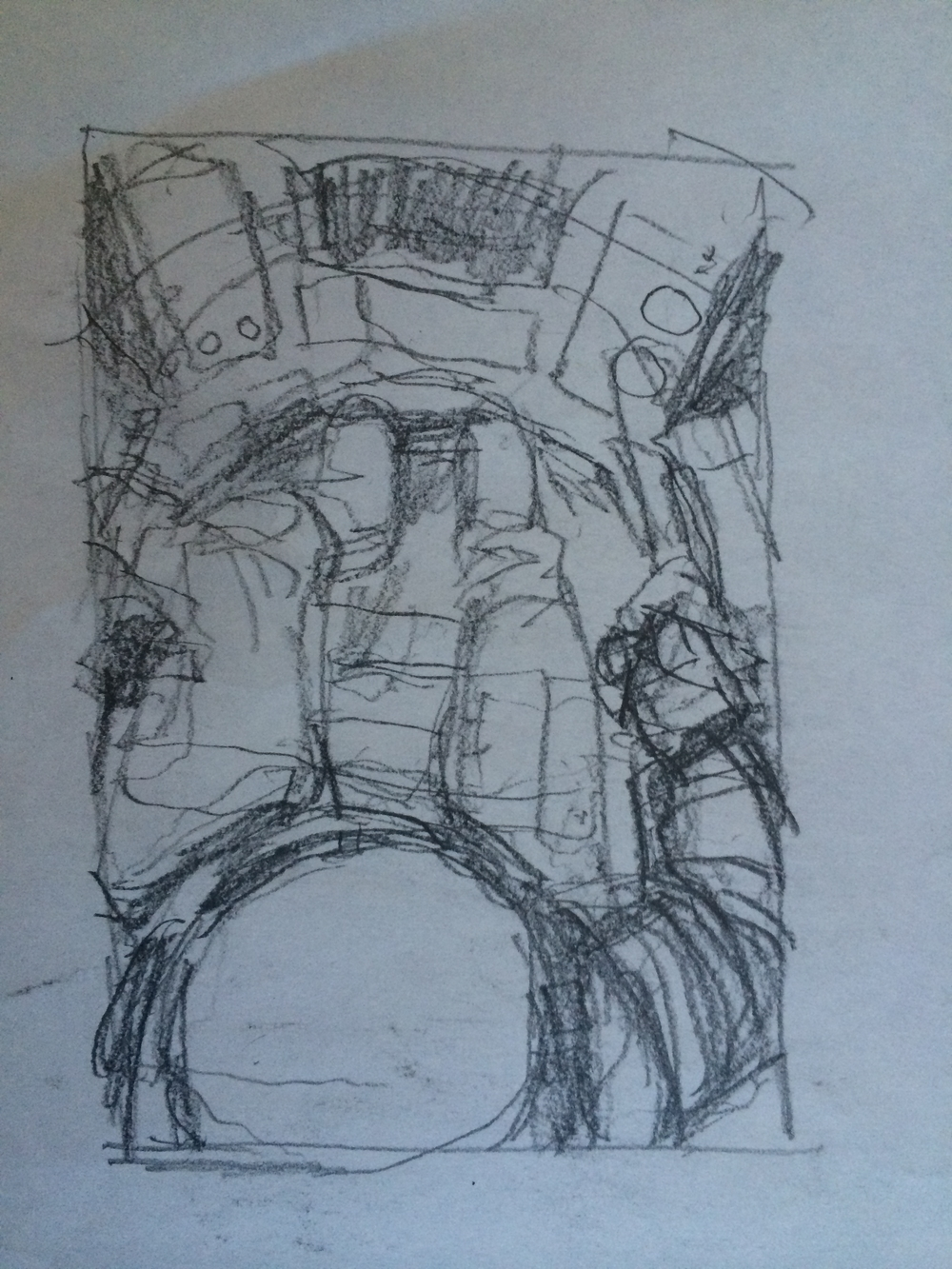 "The first sketch I did in my notebook for the, ""Pilot"" piece."