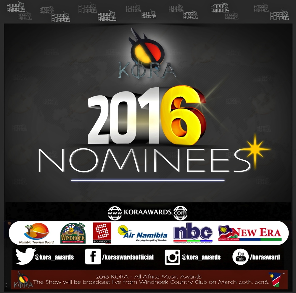 KORA 2016 Nominee list