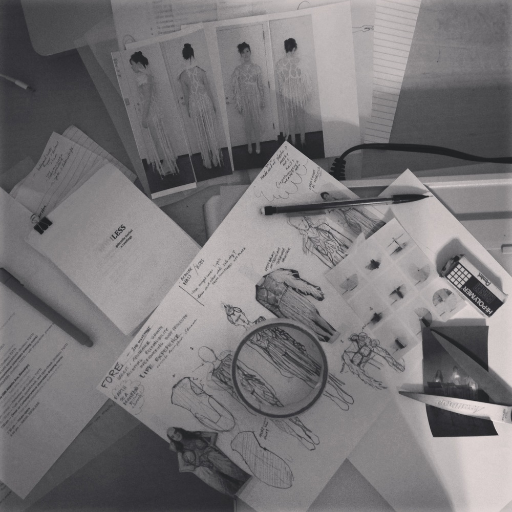 sketches, libretto, tools... at estudioBALMASEDA. Photo by Zaida Adriana Goveo Balmaseda