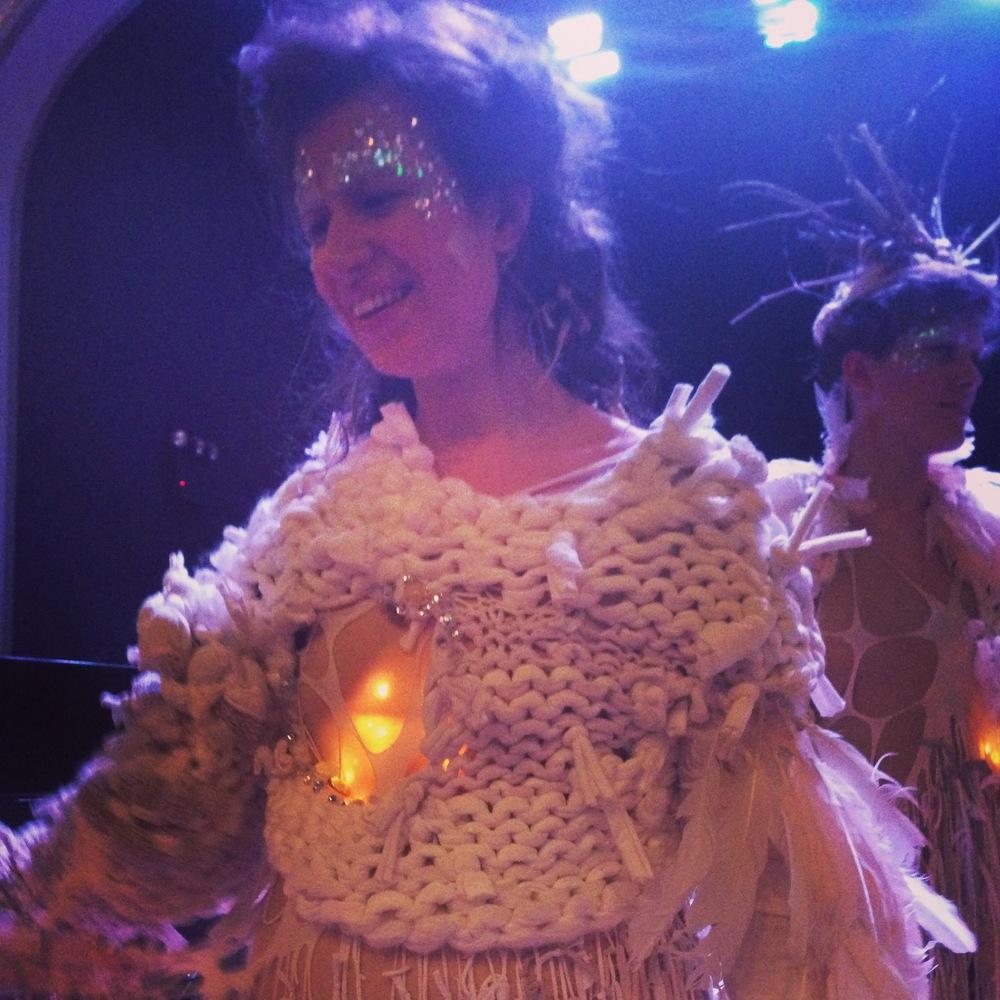 A smiling post-performance Gabrielle Herbst. Photo by Zaida Adriana Goveo Balmaseda