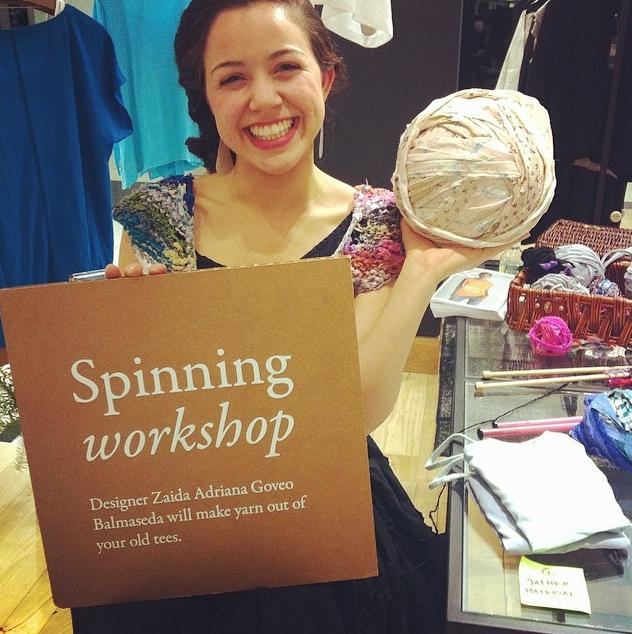 Zaida Adriana Goveo Balmaseda at Eileen Fisher/Bloomingdales. Photo by Dorian Iten