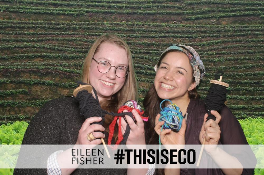Sophie and Zaida at the Eileen Fisher/#THISISECO Photobooth!