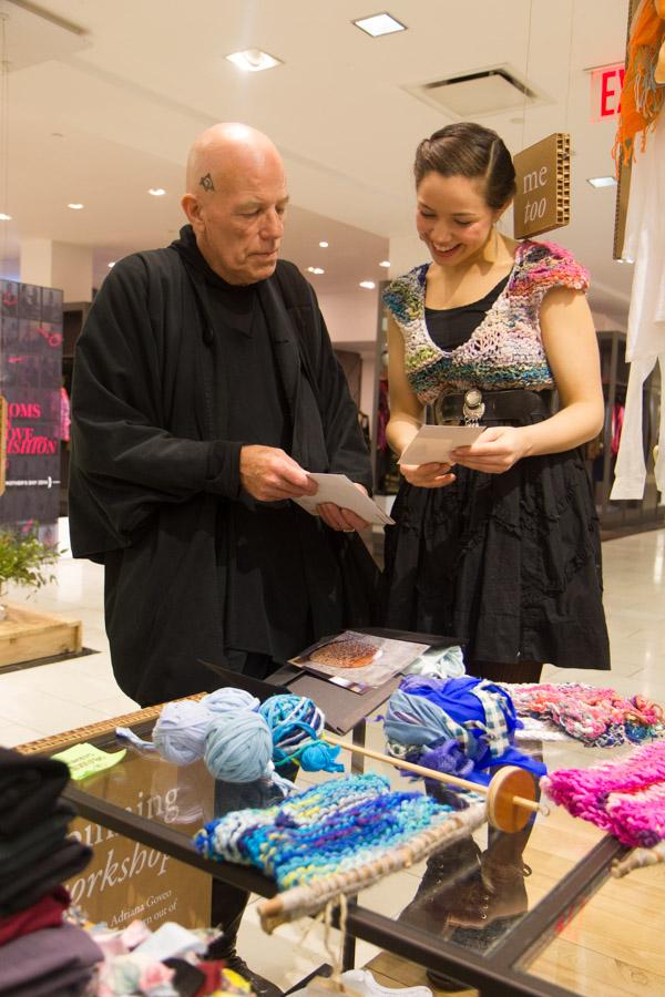 Zaida Adriana Goveo Balmaseda and Michael Kehrlein at the Eileen Fisher/Bloomingdale's event.Photo by Dorian Iten