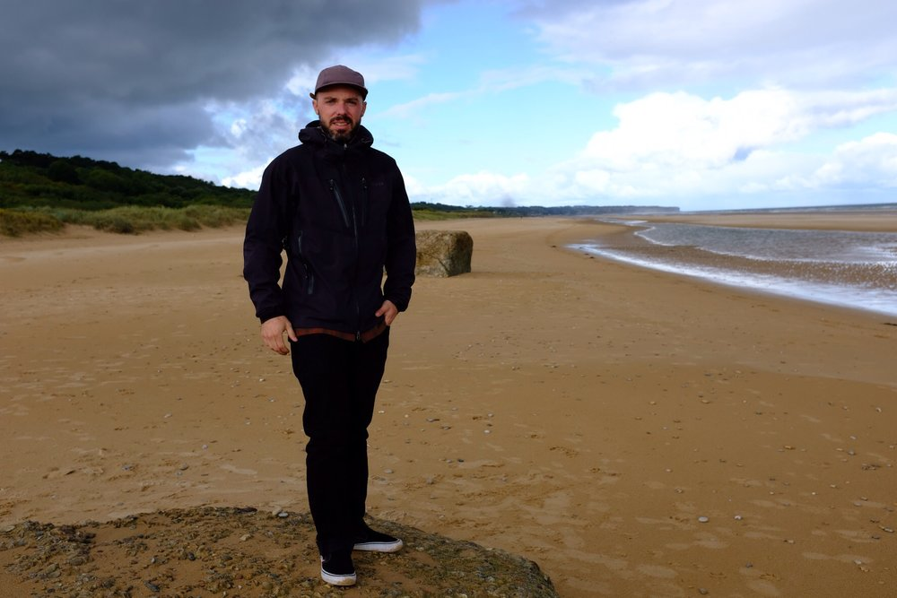 Standing in Fox sector of Omaha Beach where my grandfather landed on D Day.