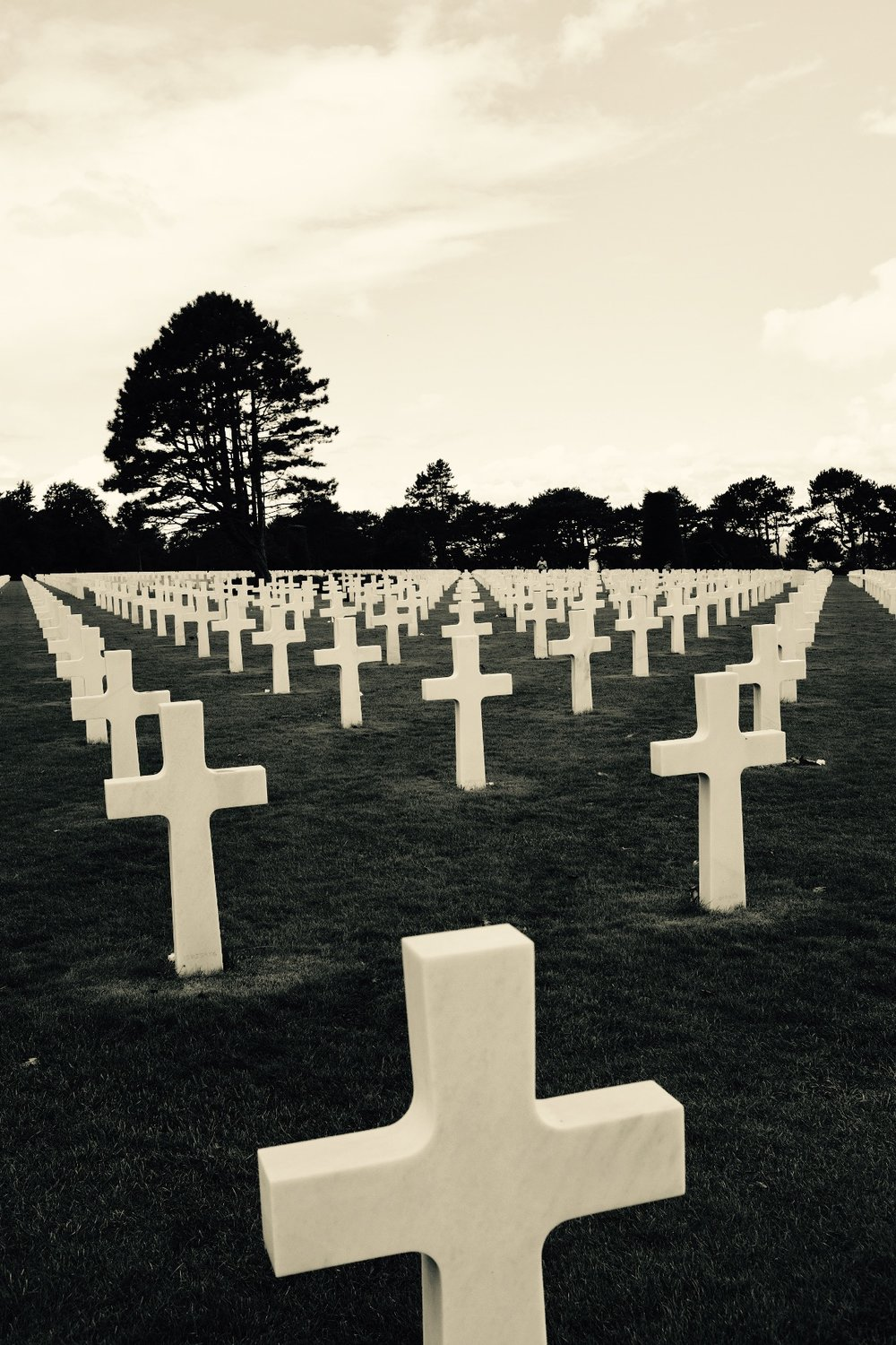 The brave souls at the American Normandy cemetery who didn't get so lucky. What a humbling sight.